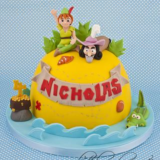 Jake and the Neverland Pirates Peter Pan and Captain Hook Cake