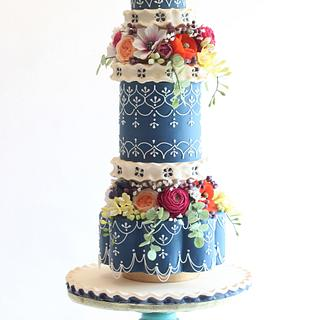 Moroccan Floral Cake