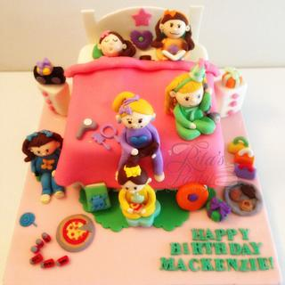Slumber 3D Bed Party/ Birthday - Cake by Ritas Creations
