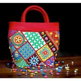 Kutch Work Bag with Candies - Cake by MiaTorte Cakes, Hyderabad