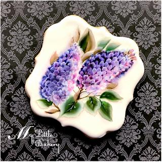 Painted cookie. Lilac.