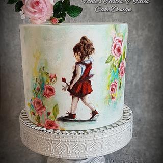 Love and Roses -Valentine Cake