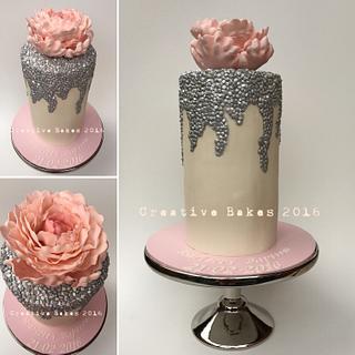 Pretty pink peony - Cake by Jocolate