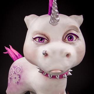 Wild Wild 3d cake punk unicorn