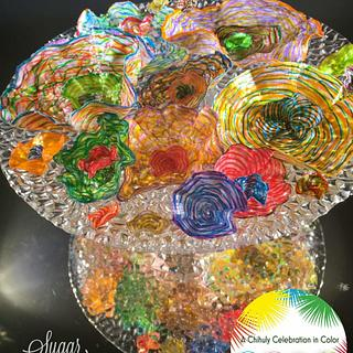Faux-glass flowers - A Chihuly Sugar Celebration collab
