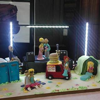 Festival Wedding Cake with Working Illuminations