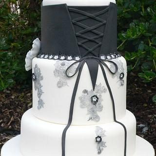 Black & White - The Z Stripes Collaboration - Cake by Sweet Fusion Cakes (Anjuna)