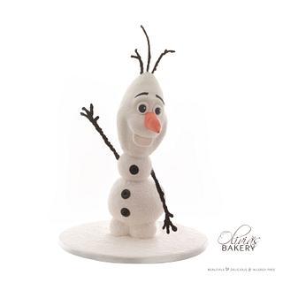 Frozen's Olaf 3D - Cake by Olivia's Bakery