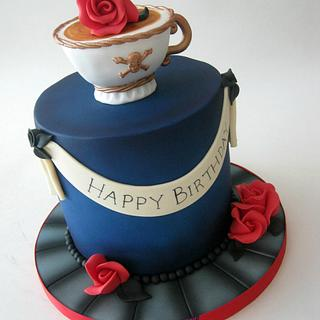 Retro Tattoo Style Birthday Cake