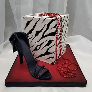 Elegant high heal  - Cake by Tirki
