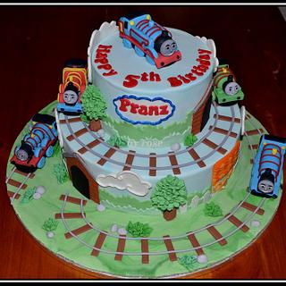 Thomas and Friends Themed Cake