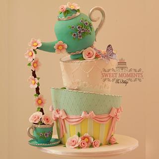 Fun and Pretty Tea Party Cake 💕