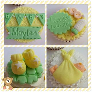 New Baby Announcement Celebration Cupcakes