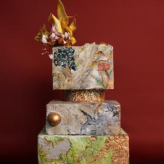 Art Deco Stone Effect cake