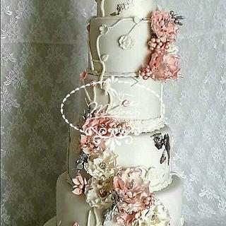 Flowery Cake Wedding