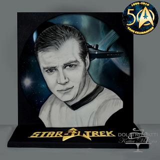 Capitain James Kirk for Star Trek 50 Cake Celebration
