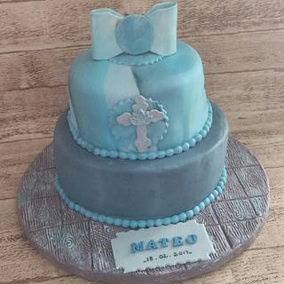 Baptism Cake for Mateo