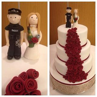 My first wedding cake  - Cake by Enchanting Cupcakes hobby cakes