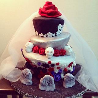 Topsy Turvy Gothic Cake