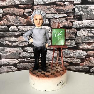 Albert Einstein Fondant Figure