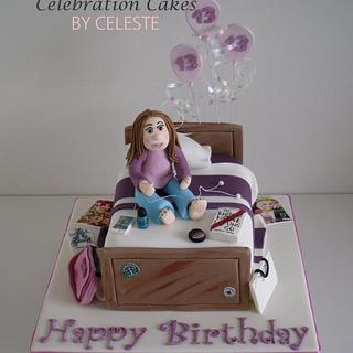 Teenagers bedroom - bespoke birthday cake