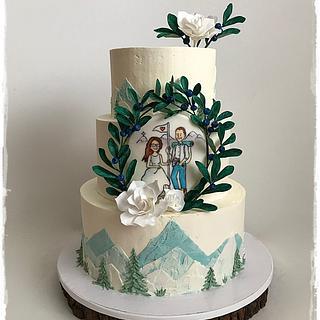 Cream wedding mountains - Cake by Zuzana Kmecova