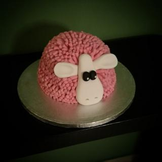 Pink sheep - Cake by nef_cake_deco