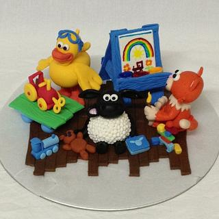 Timmy Time cake toppers - Cake by Jade