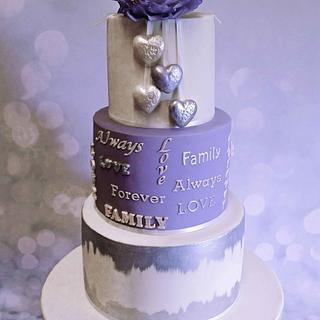 Joining of two families wedding cake
