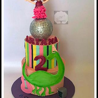 Dino Disco - Cake by Sugar coated by Nehha
