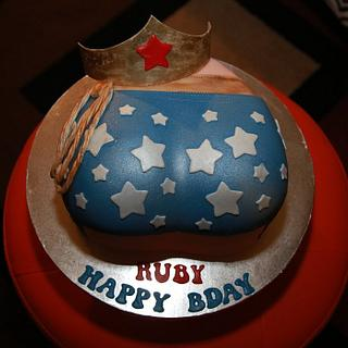 Wonder woman's butt cake