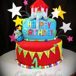 1st Birthday Circus Cake!