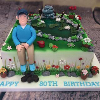 Garden pond - Cake by Alana Lily Chocolates & Cakes