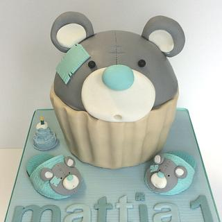 Giant Cupcake Bear & baby sleepers - Cake by Sweet Factory