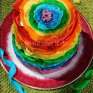 Carnival ruffle cake
