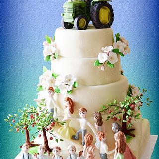 Wedding cake for the Grower - Cake by Anna Krawczyk-Mechocka