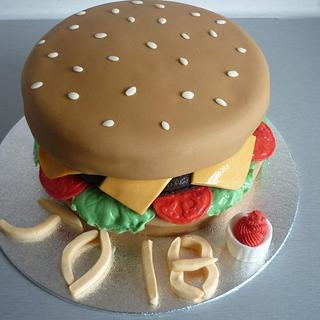 18th Birthday Burger Cake