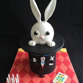 Rabbit out of a magic hat cake - Cake by Galatia