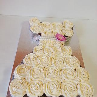 Wedding Dresss  Cupcakes  - Cake by Eva Christina Cakes