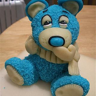 TIRED TEDDIE  - Cake by LAURA MANSFIELD
