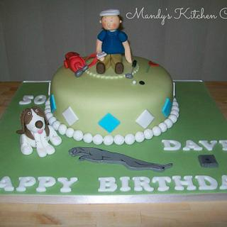 Golf, Jaguar/Range Rover and IT themed cake! - Cake by Mandy Morris