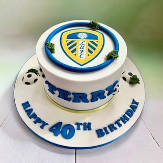 40th Leeds United cake