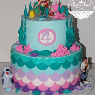 The Little Mermaid - Cake by Sugar Sweet Cakes