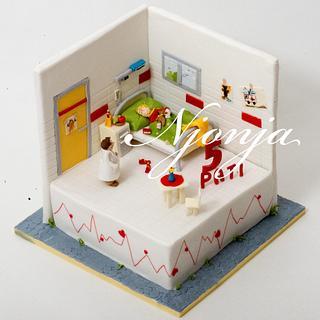 Hospital cake