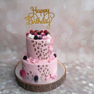 wild print cake