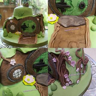 Hobbit inspired house - Cake by Pattiecake
