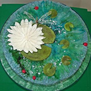 Monet Inspired Cake - Cake by Jules