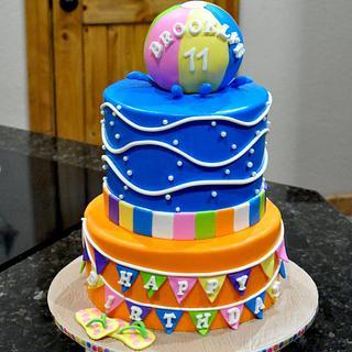 Beach Ball Cake - Cake by Cakes For Fun