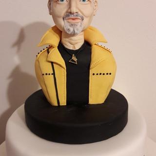 Italian singer...Vasco Rossi - Cake by silviacucinelli