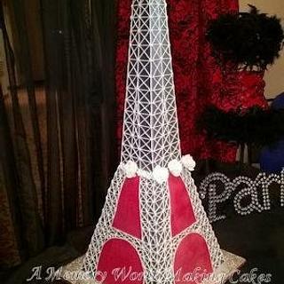 Eiffel Tower Paris Cake